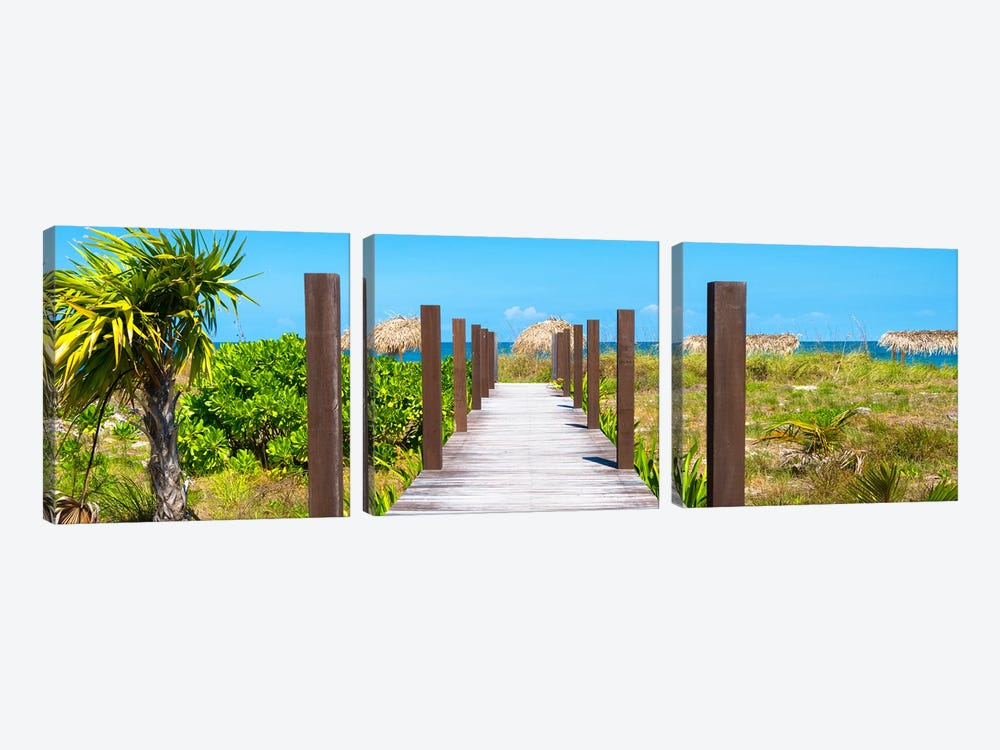 Wooden Jetty On The Beach by Philippe Hugonnard 3-piece Art Print