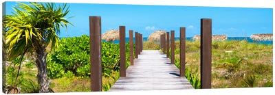 Wooden Jetty On The Beach Canvas Art Print