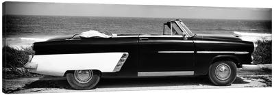 Cabriolet Car in B&W Canvas Art Print