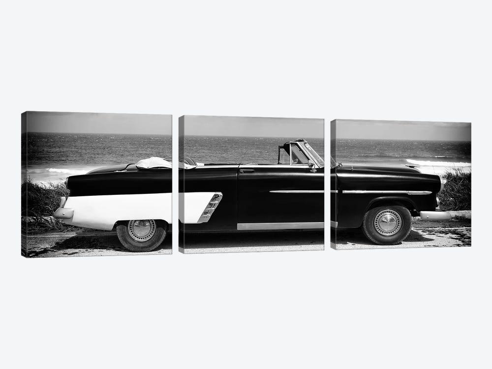Cabriolet Car in B&W by Philippe Hugonnard 3-piece Canvas Artwork