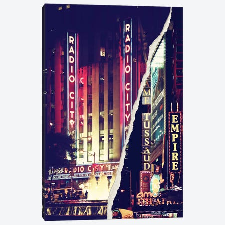 Dual Torn Series - Times Square Theater District Canvas Print #PHD36} by Philippe Hugonnard Canvas Artwork