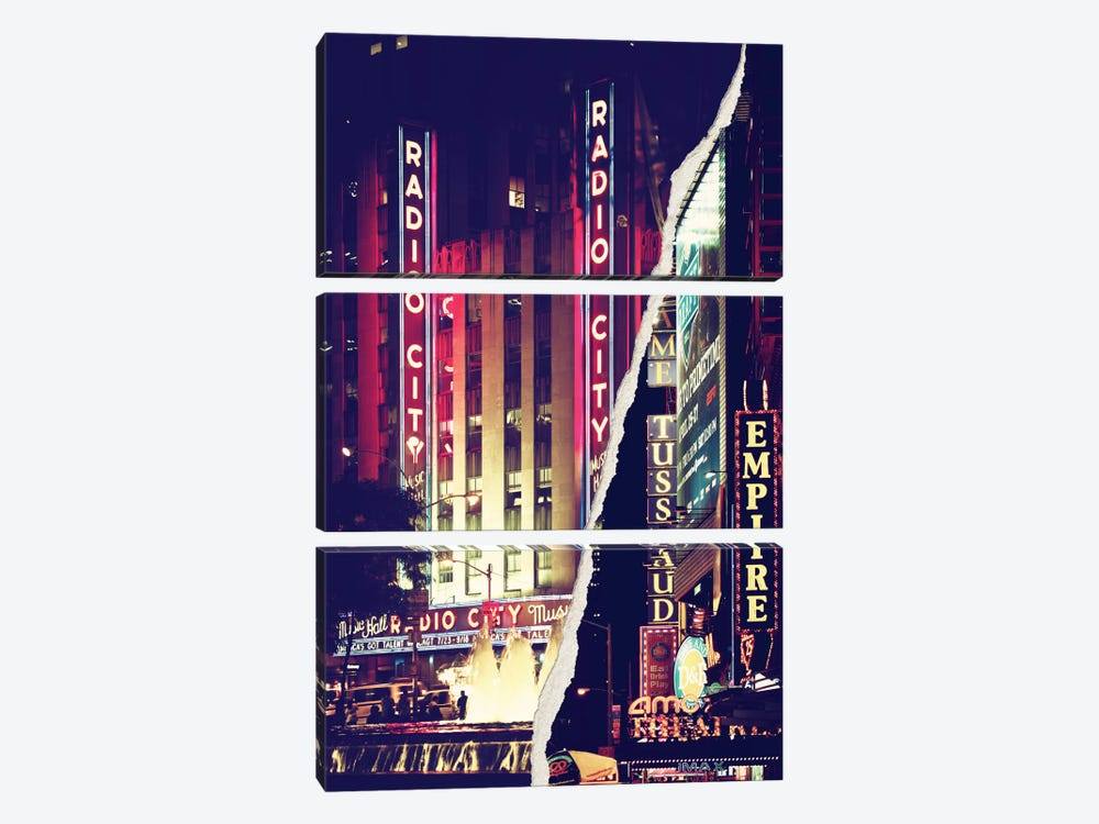 Times Square Theater District by Philippe Hugonnard 3-piece Art Print