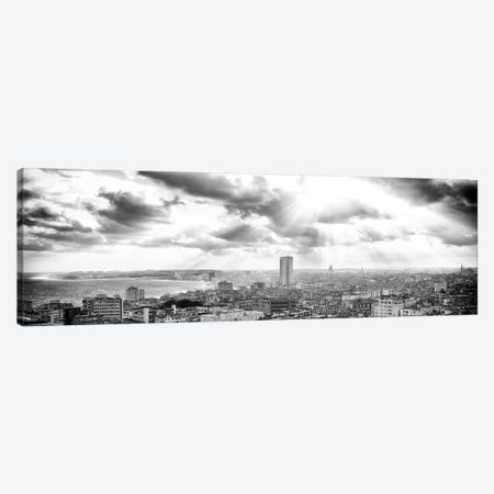 Rays Of Light On Havana in B&W Canvas Print #PHD370} by Philippe Hugonnard Canvas Wall Art