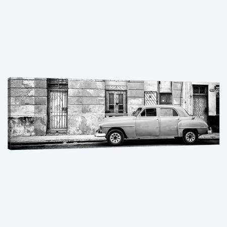 Vintage American Car in Havana in B&W Canvas Print #PHD371} by Philippe Hugonnard Canvas Artwork