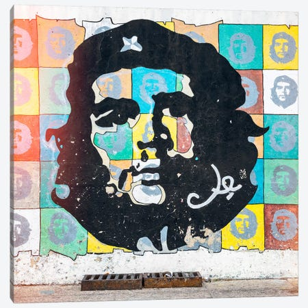 Che Guevara Mural in Havana Canvas Print #PHD372} by Philippe Hugonnard Canvas Artwork