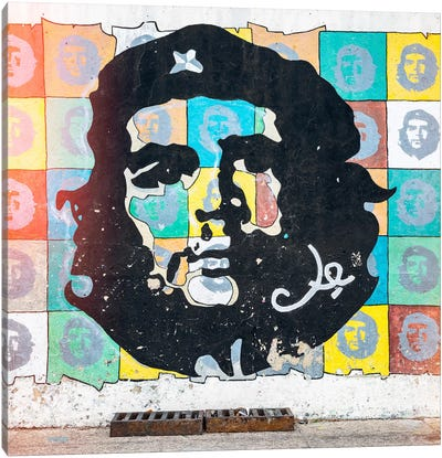 Che Guevara Mural in Havana Canvas Art Print