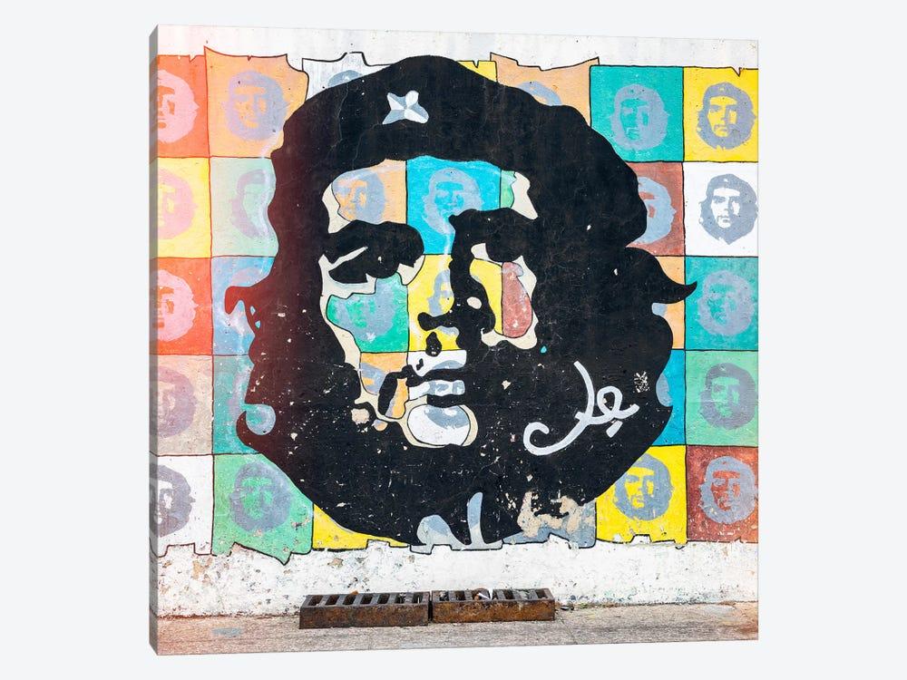 Che Guevara Mural in Havana by Philippe Hugonnard 1-piece Canvas Print