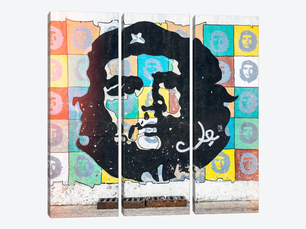 Che Guevara Mural in Havana by Philippe Hugonnard 3-piece Art Print