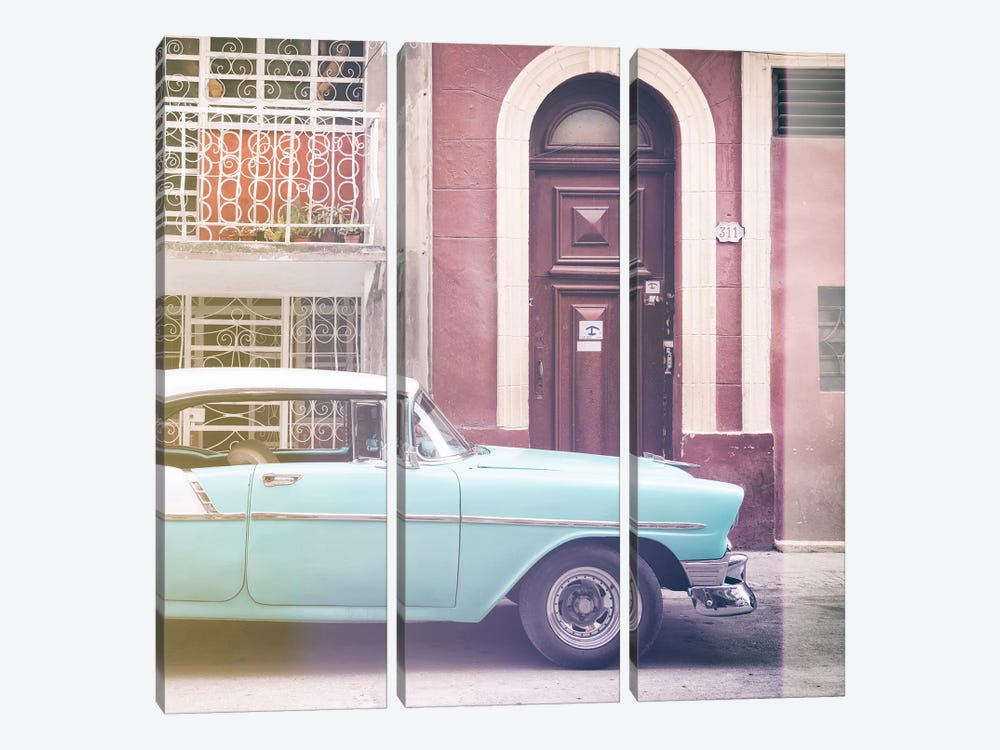 Classic Car in Havana by Philippe Hugonnard 3-piece Canvas Wall Art