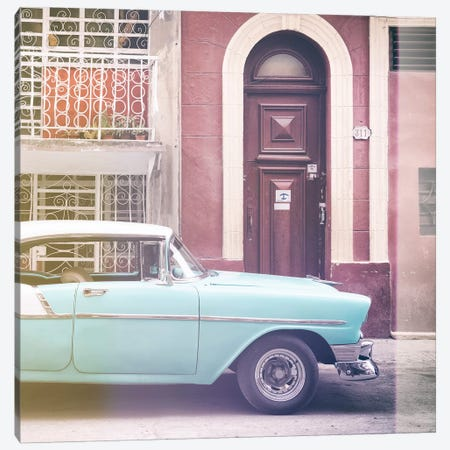 Classic Car in Havana 3-Piece Canvas #PHD373} by Philippe Hugonnard Canvas Art
