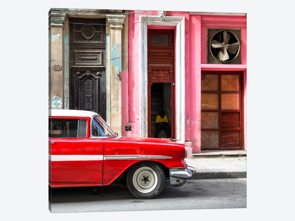 Old Classic American Red Car by Philippe Hugonnard 1-piece Canvas Print
