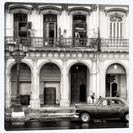 Colorful Architecture and Black Classic Car in B&W Canvas Print #PHD377} by Philippe Hugonnard Art Print