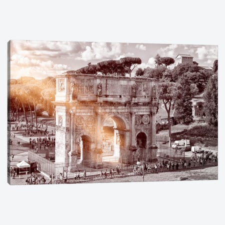 Dolce Vita Rome - Ray of Light Collection - Arch of Constantine Canvas Print #PHD378} by Philippe Hugonnard Canvas Wall Art