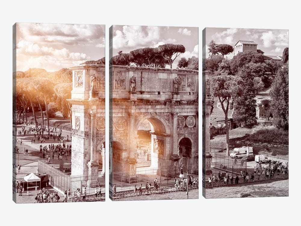 Dolce Vita Rome - Ray of Light Collection - Arch of Constantine by Philippe Hugonnard 3-piece Canvas Print