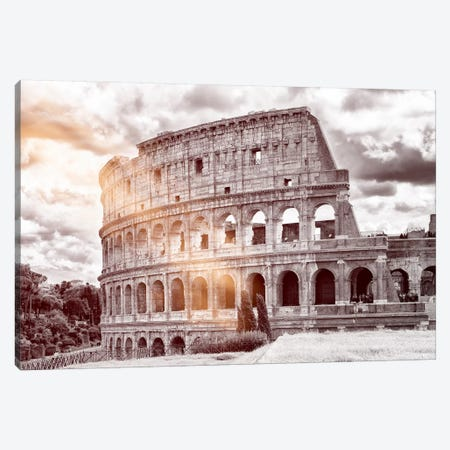 Dolce Vita Rome - Ray of Light Collection - Colosseum Roma Canvas Print #PHD379} by Philippe Hugonnard Canvas Art
