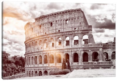 Dolce Vita Rome - Ray of Light Collection - Colosseum Roma Canvas Art Print