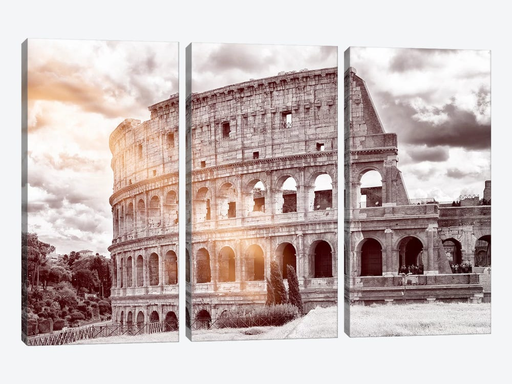Colosseum Roma by Philippe Hugonnard 3-piece Canvas Art