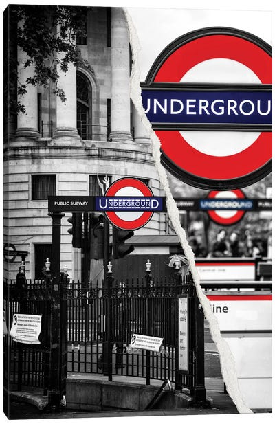Underground Canvas Art Print