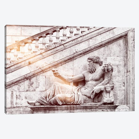 Dolce Vita Rome - Ray of Light Collection - Roman Statue Canvas Print #PHD380} by Philippe Hugonnard Canvas Art Print