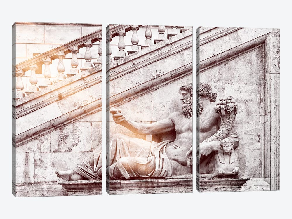 Dolce Vita Rome - Ray of Light Collection - Roman Statue by Philippe Hugonnard 3-piece Canvas Art