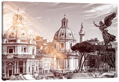 Dolce Vita Rome - Ray of Light Collection - The City of the Italian Angels Canvas Art Print