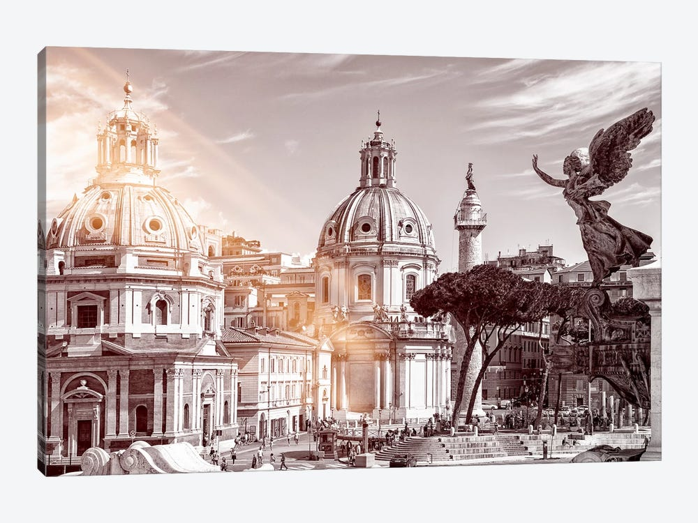 Dolce Vita Rome - Ray of Light Collection - The City of the Italian Angels by Philippe Hugonnard 1-piece Canvas Art Print