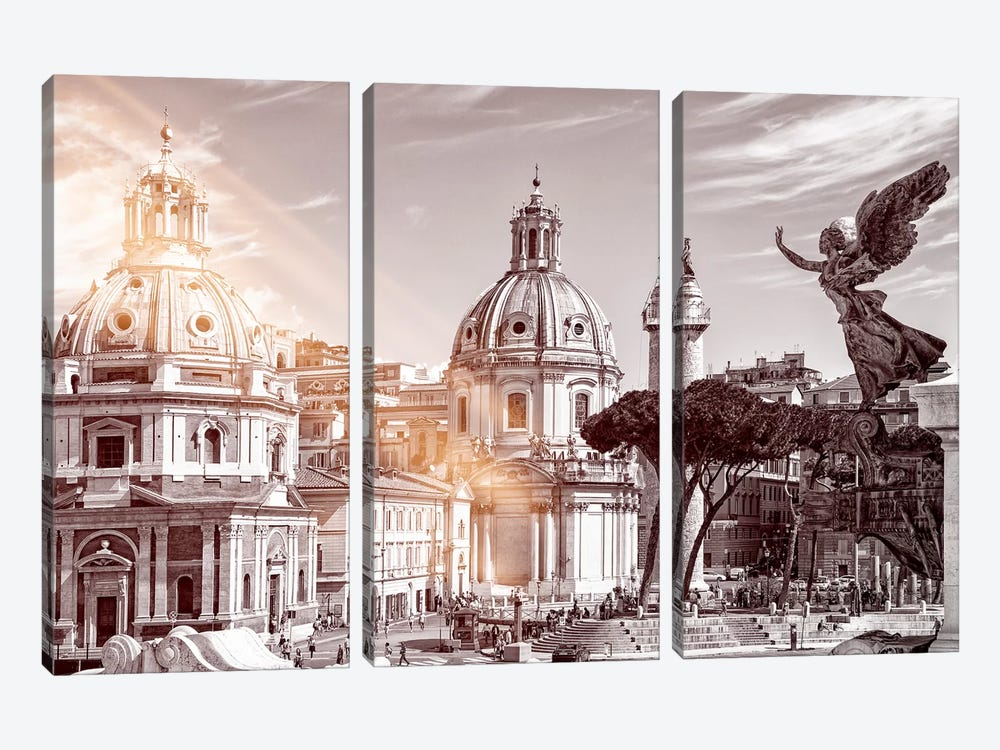 Dolce Vita Rome - Ray of Light Collection - The City of the Italian Angels by Philippe Hugonnard 3-piece Art Print