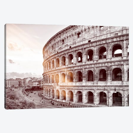 Dolce Vita Rome - Ray of Light Collection - The Colosseum Canvas Print #PHD382} by Philippe Hugonnard Art Print