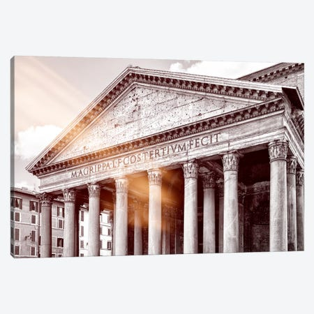 Dolce Vita Rome - Ray of Light Collection - The Pantheon Canvas Print #PHD383} by Philippe Hugonnard Canvas Print