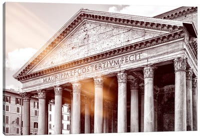 Dolce Vita Rome - Ray of Light Collection - The Pantheon Canvas Art Print