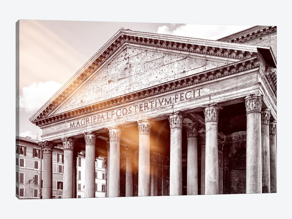 Dolce Vita Rome - Ray of Light Collection - The Pantheon by Philippe Hugonnard 1-piece Canvas Art Print