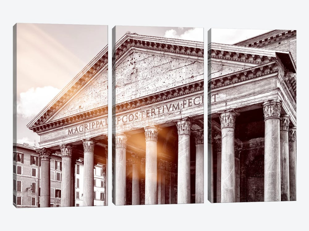 Dolce Vita Rome - Ray of Light Collection - The Pantheon by Philippe Hugonnard 3-piece Canvas Print