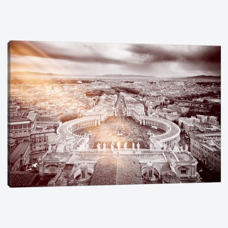 Dolce Vita Rome - Ray of Light Collection - The Vatican City Canvas Print #PHD384} by Philippe Hugonnard Canvas Art