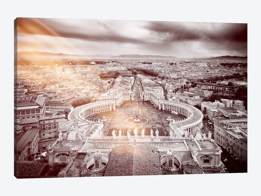 Dolce Vita Rome - Ray of Light Collection - The Vatican City by Philippe Hugonnard 1-piece Canvas Artwork