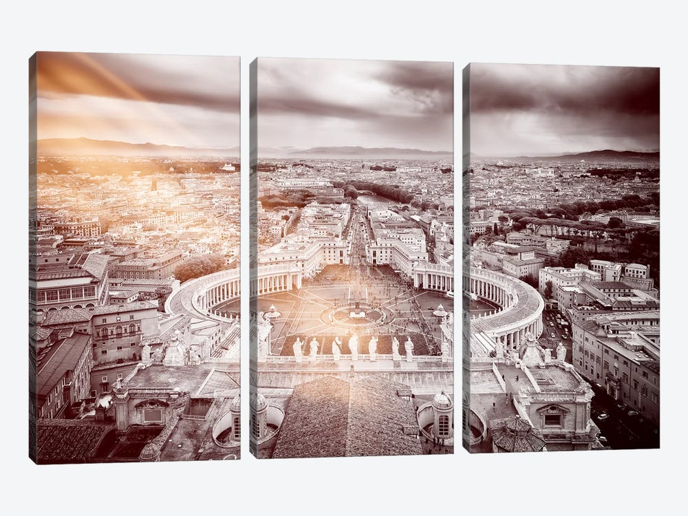 Dolce Vita Rome - Ray of Light Collection - The Vatican City by Philippe Hugonnard 3-piece Canvas Artwork