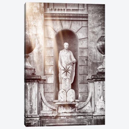 Dolce Vita Rome - Ray of Light Collection - Vatican Statue Canvas Print #PHD385} by Philippe Hugonnard Canvas Wall Art