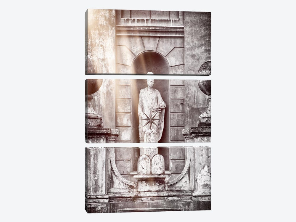 Vatican Statue by Philippe Hugonnard 3-piece Canvas Print