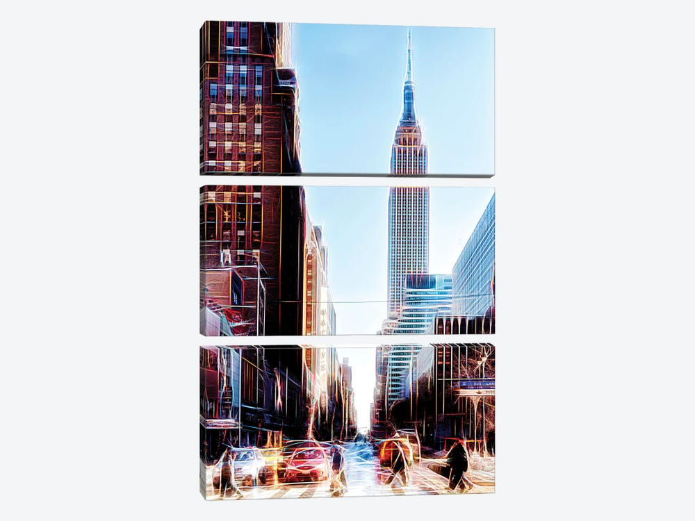 34th Street by Philippe Hugonnard 3-piece Canvas Art