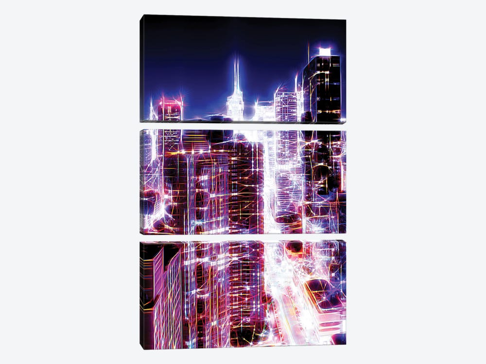 42nd Street by Philippe Hugonnard 3-piece Canvas Art Print