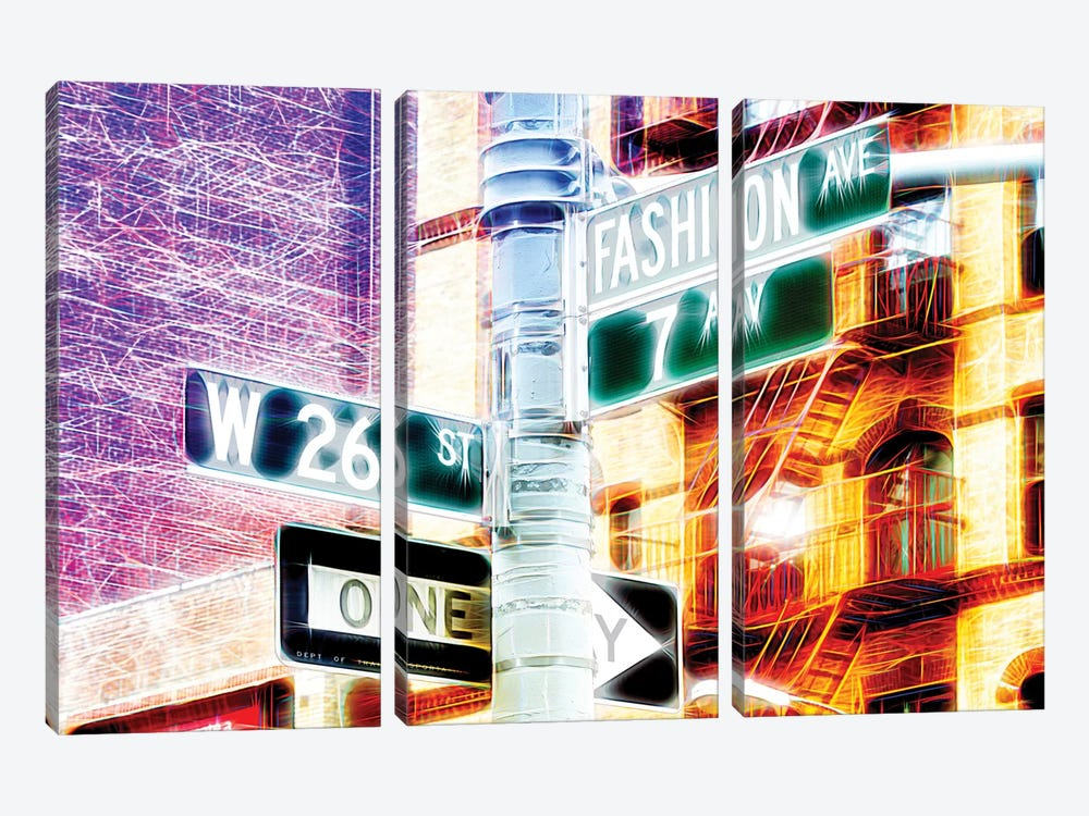 7th Avenue by Philippe Hugonnard 3-piece Canvas Artwork