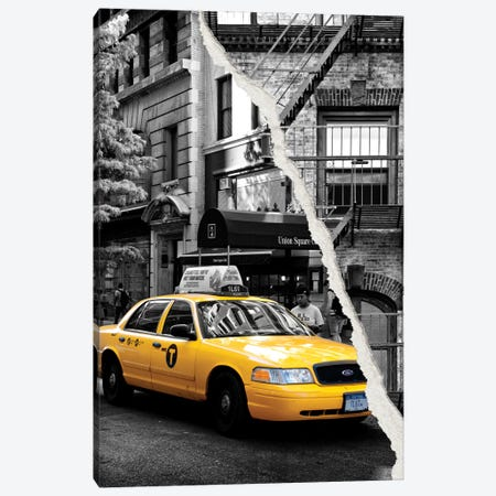 Yellow Cab Canvas Print #PHD38} by Philippe Hugonnard Canvas Art Print