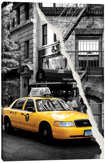 Yellow Cab Canvas Art Print