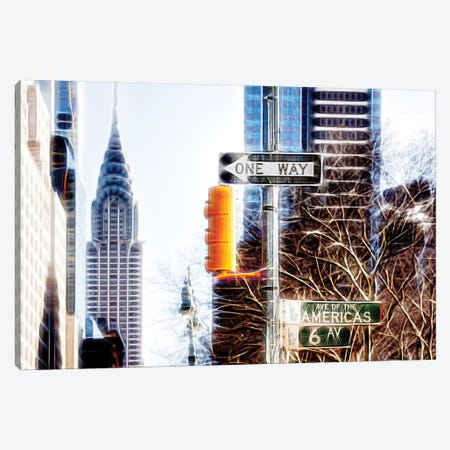 Avenue Of The Americas Canvas Print #PHD390} by Philippe Hugonnard Canvas Wall Art