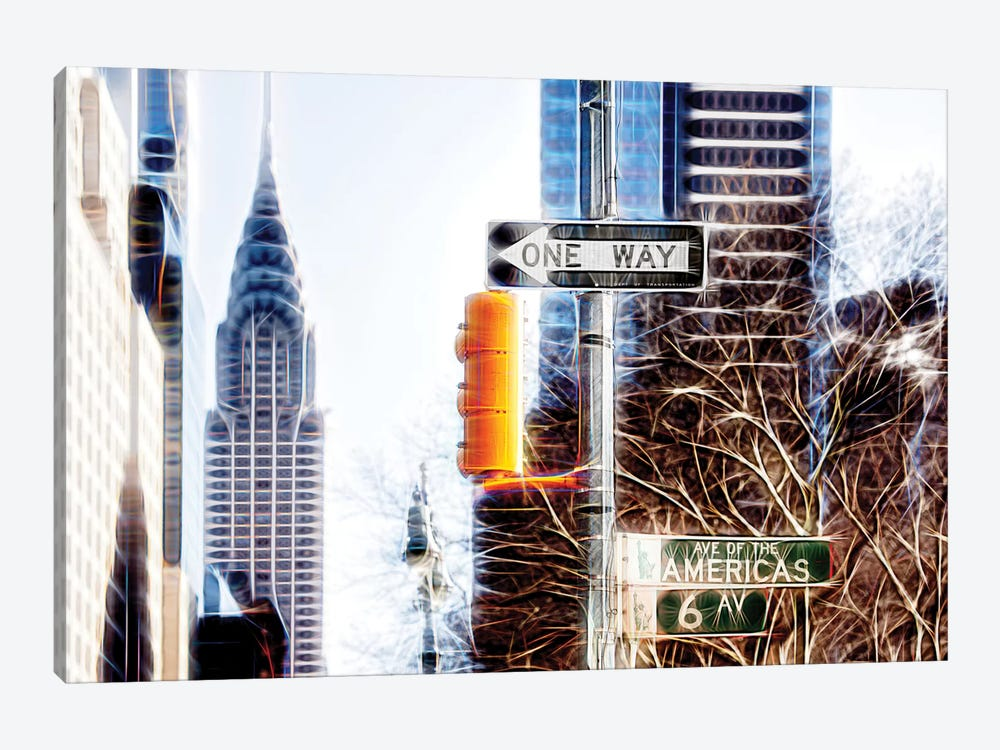 Avenue Of The Americas by Philippe Hugonnard 1-piece Canvas Art Print