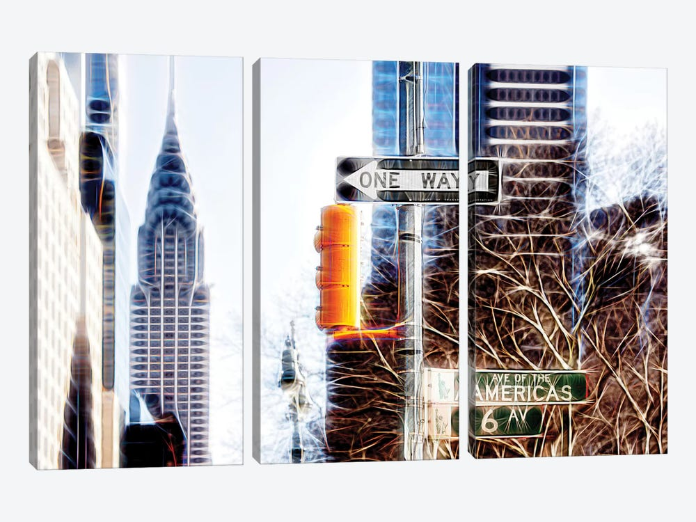Avenue Of The Americas by Philippe Hugonnard 3-piece Canvas Print