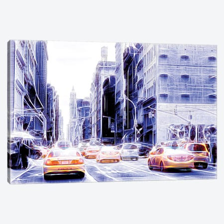 Blue Street Canvas Print #PHD394} by Philippe Hugonnard Canvas Art Print