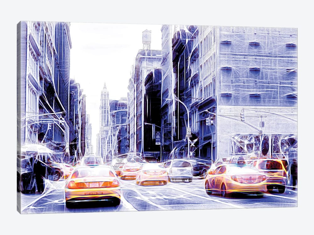 Blue Street by Philippe Hugonnard 1-piece Canvas Art Print