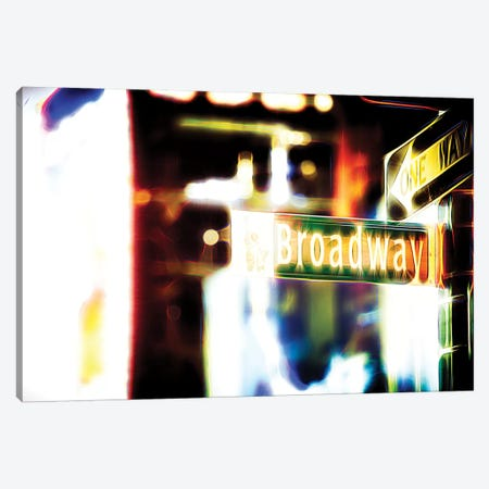 Broadway Sign Canvas Print #PHD397} by Philippe Hugonnard Canvas Print