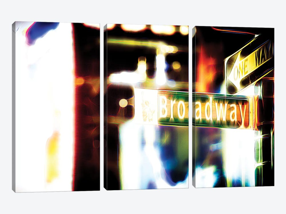 Broadway Sign by Philippe Hugonnard 3-piece Canvas Art