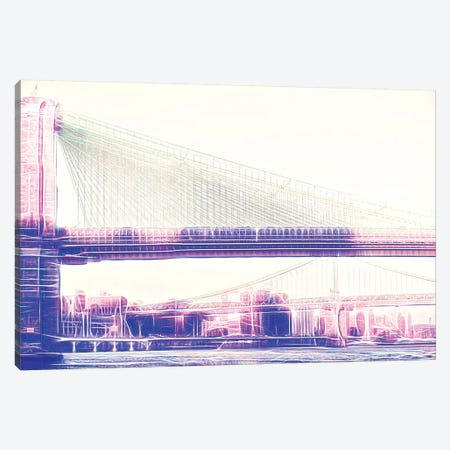 Brooklyn Bridge Canvas Print #PHD398} by Philippe Hugonnard Canvas Art
